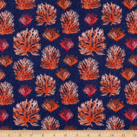 Clothworks By The Seashore Toss Coral