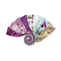 "Clothworks Orchid Fancy 2.5"" Strip Roll 40 Pcs Multi"