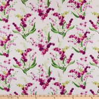 Clothworks Orchid Fancy Toss White
