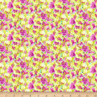 Clothworks Orchid Fancy Toss Yellow
