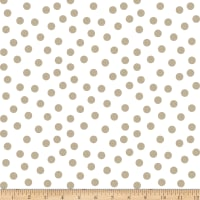 Clothworks You Are Amazing Dots Light Taupe