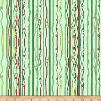Clothworks Just What I Wanted Stripe Light Mint