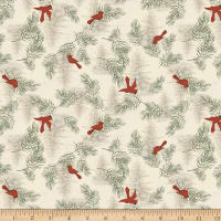 Clothworks Let Nature Sing Toss Light Khaki
