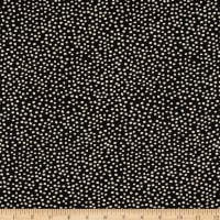 Clothworks Midnight Glow Dots Black