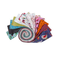 "Clothworks Summer Sampler 2.5"" Strip Roll 40pcs"