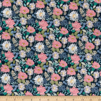 Poppie Cotton Country Roads Country Roads Navy