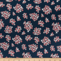 Poppie Cotton Country Roads Almost Heaven Navy