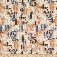 Whistler Studios One Time Flannel Numerals Tan