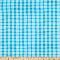Whistler Studios A To Zoo Loose Gingham Turquoise