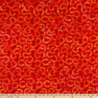 Anthology Batiks Jacqueline de Jonge Flora Petal Imprints Red