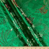 Fabric Merchants Chinese Brocade Dragon Green