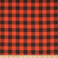 Camelot Reindeer Lodge Buffalo Plaid Red