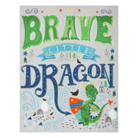"Camelot Once Upon a Time Little Dragon 36"" Panel Grey"