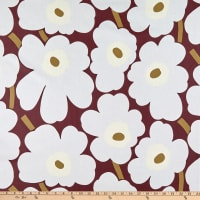 Marimekko Pieni Unikko Acrylic Coated Dark Red