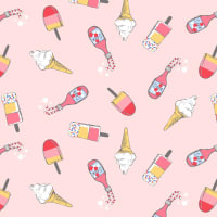 Michael Miller Fabrics At The Seashore Ice Scream Strawberry