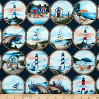 Michael Miller Fabrics By The Sea Cast Off Navy