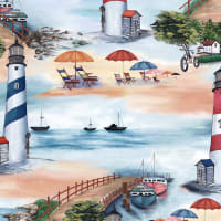 Michael Miller Fabrics By The Sea At The Beach Blue