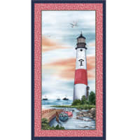 "Michael Miller Fabrics By The Sea Lighthouse 24"" Panel Shell"