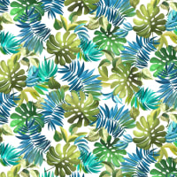 Michael Miller Fabrics Lost In Paradise Lavish Leaves White