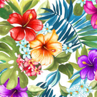 Michael Miller Fabrics Lost In Paradise Tropical Bliss White
