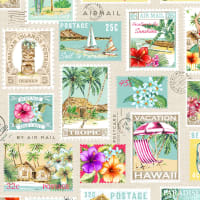 Michael Miller Fabrics Lost In Paradise Tropical Getaway Cream