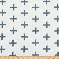 Art Gallery Hooked Chain Stitch Crosses Blue/White