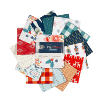 Art Gallery Cozy & Joyful Fat Quarters Fabric Wonders 14pcs Red/Blue/Green