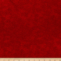 """Westrade 109"""" Cotton Wide Quilt Backs Multi Spot Red"""