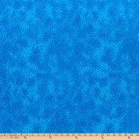 """Westrade 109"""" Cotton Wide Quilt Backs Multi Spot Turquoise"""