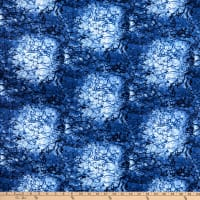 "Westrade 109"" Cotton Wide Quilt Backs Moonscape Navy"