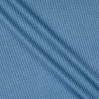 Thermal Brushed Waffle Stretch Knit Denim Steel