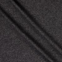 Thermal Brushed Waffle Stretch Knit Charcoal 2 Tone