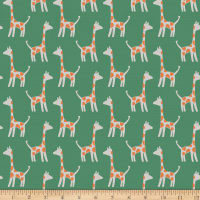 Paintbrush Studio Fabrics Animal Kingdom Giraffe Green
