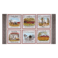 "Headin' Home Inspirational Block 24"" Panel Sepia"