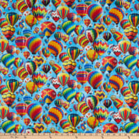 Up In The Air Packed Hot Air Balloons Blue