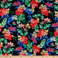 Pine Crest Repreve Virtue Recycled Polyester Flowers Black Multi