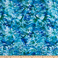 Pine Crest Repreve Virtue Recycled Polyester Stretch Tricot Knit Tie Dye Swirl Blue/Green