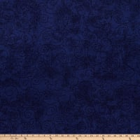 "Westrade 110"" Flannel Wide Quilt Backs Willow French Navy"