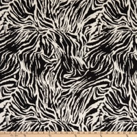 Telio Stretch Nylon Viscose Bengaline Animal Print Black/Honey
