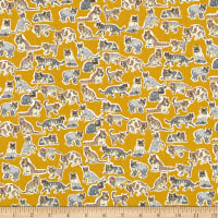 Liberty Fabrics Tana Lawn Willoughby Mews Yellow