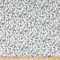 Liberty Fabrics Tana Lawn Bertie Green/Purple