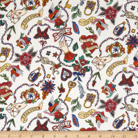 Liberty Fabrics Tana Lawn Love Letters Red Multi