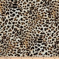 Fabric Merchants Liverpool Double Stretch Knit Cheetah Gray/Olive