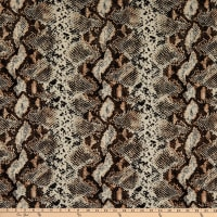 Fabric Merchants Liverpool Double Stretch Knit Snake Skin Print Taupe