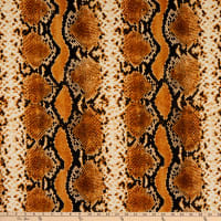 Fabric Merchants Liverpool Double Stretch Knit Snake Skin Print Mustard