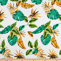 Fabric Merchants Liverpool Double Stretch Knit Tropical Ivory/Green