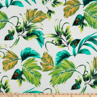 Fabric Merchants Liverpool Double Stretch Knit Tropical Ivory/Lime