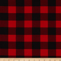 Fabric Merchants Liverpool Double Stretch Knit Buffalo Plaid Black/Red