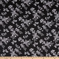 Fabric Merchants ITY Jersey Knit Floral Black/White