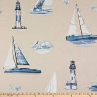 ArtCo Prints Boat Lighthouse Sailing Duck Natural/Blue